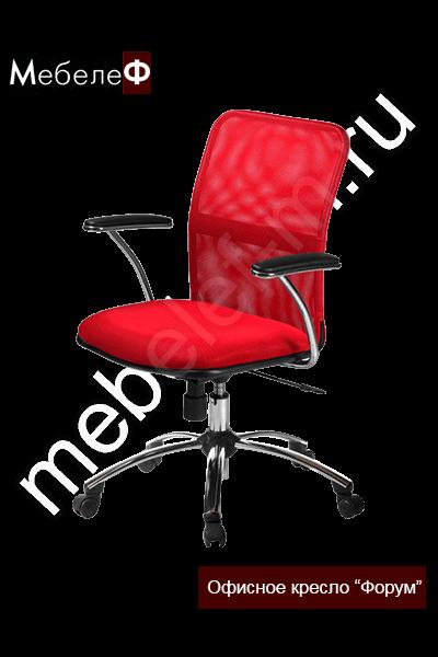 """Офисное кресло """"Форум"""" красное"""