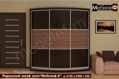 "Радиусный шкаф-купе ""Мебелеф-6"""