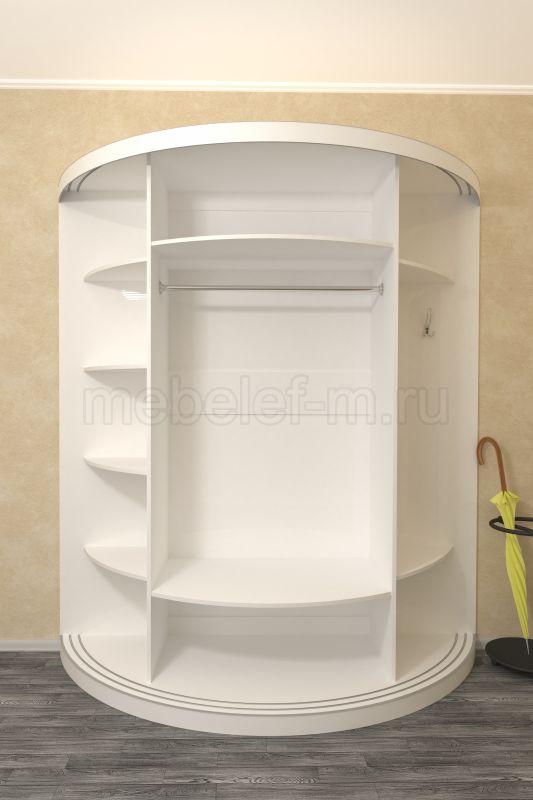 радиусный шкаф купе Мебелеф 10 наполнение