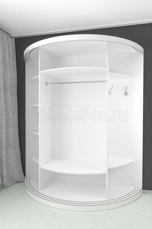 радиусный шкаф купе Мебелеф 11 наполнение