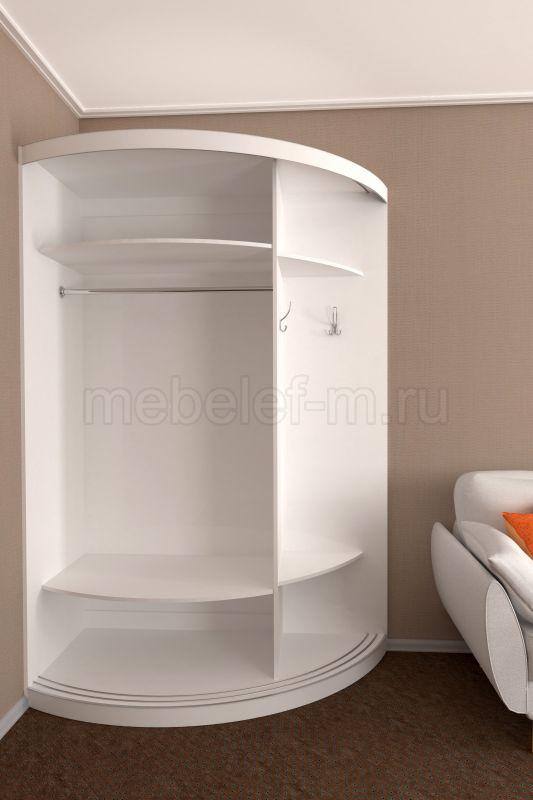 радиусный шкаф купе Мебелеф 13 наполнение
