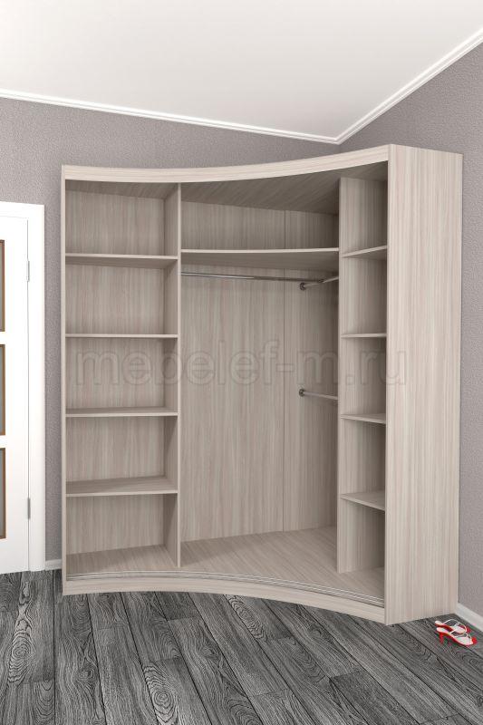радиусный шкаф купе Мебелеф 16 наполнение