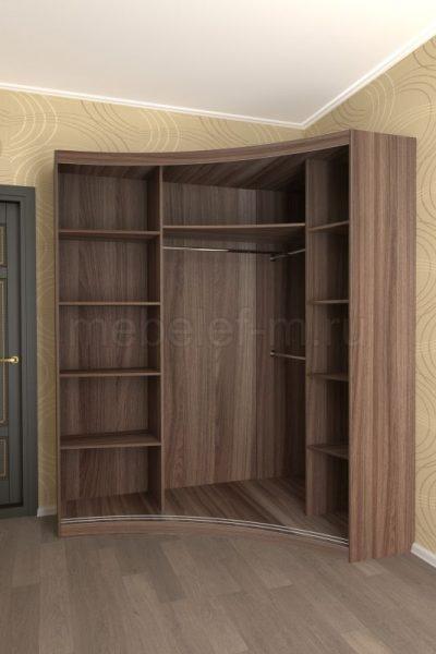 радиусный шкаф купе Мебелеф 17 наполнение
