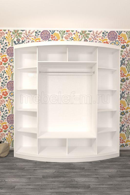 радиусный шкаф купе Мебелеф 6 наполнение