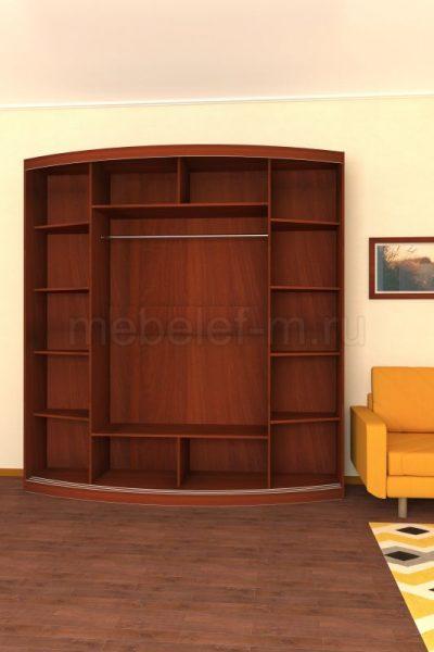 радиусный шкаф купе Мебелеф 7 наполнение