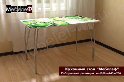 "Кухонный стол ""Мебелеф"" декор ""Киви"""