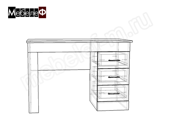 "Письменный стол ""Мебелеф-2"" чертеж"