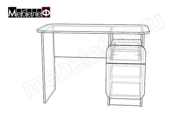 "Письменный стол ""Мебелеф-7"" чертеж"
