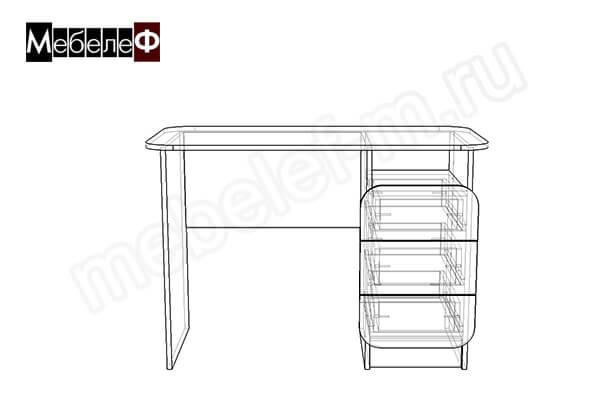 "Письменный стол ""Мебелеф-8"" чертеж"