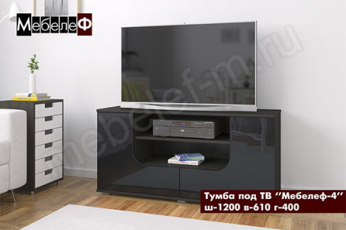 "Тумба под ТВ ""Мебелеф-4"" черная"