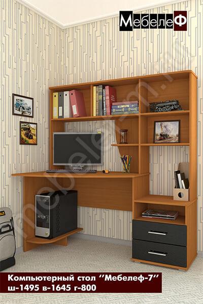 """Компьютерный стол """"Мебелеф-7"""" черный"""