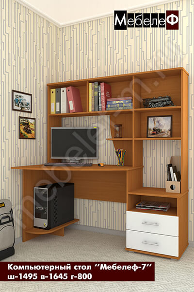 "Компьютерный стол ""Мебелеф-7"" белый"