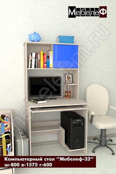 """Компьютерный стол """"Мебелеф-32"""" синий"""