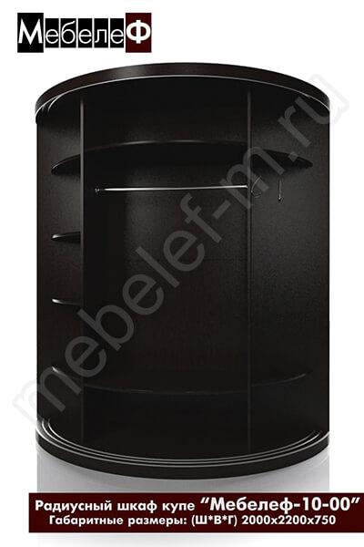 Радиусный шкаф-купе с фотопечатью Мебелеф-10-наполнение