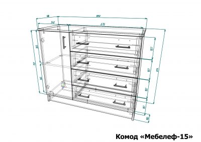 Чертеж комода Мебелеф-15