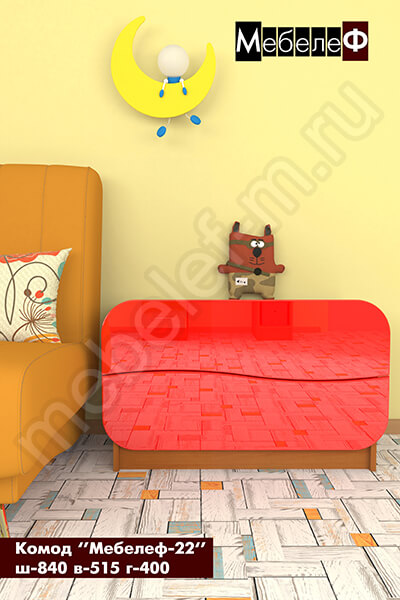 Комод Мебелеф-22 красный