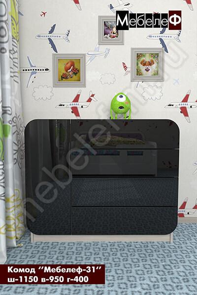 комод Мебелеф-31 черный