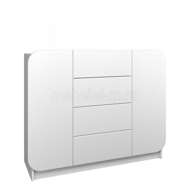 Белый комод Мебелеф 37