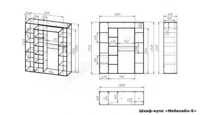 Шкаф купе Мебелайн 5 размеры