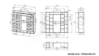 Шкаф купе Мебелайн 8 размеры