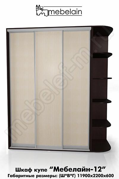 Шкаф-купе без зеркала Мебелайн-12