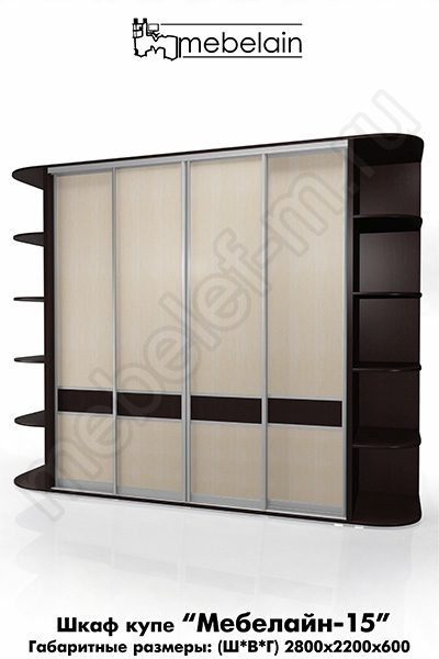 Шкаф-купе без зеркала Мебелайн-15
