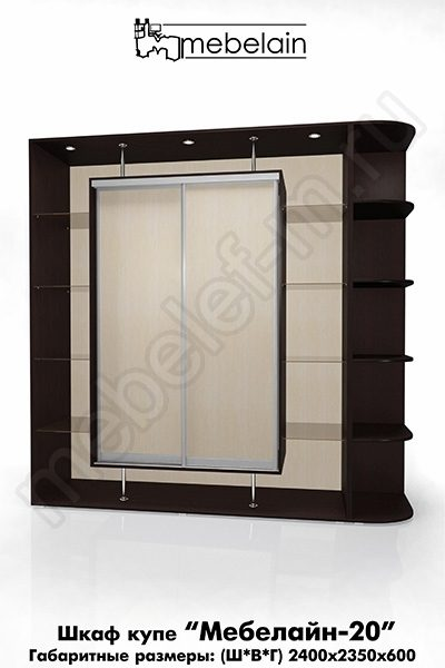 Шкаф-купе без зеркала Мебелайн-20