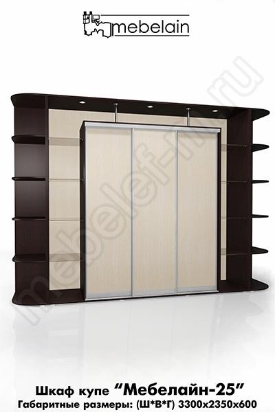 Шкаф-купе без зеркала Мебелайн-25
