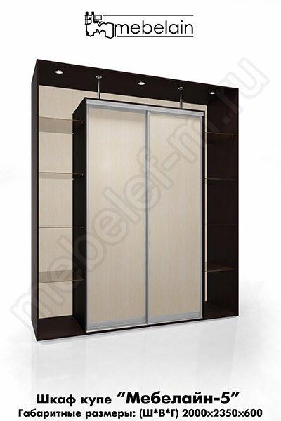 Шкаф-купе без зеркала Мебелайн-5