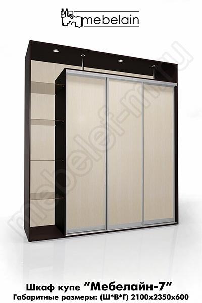 Шкаф-купе без зеркала Мебелайн-7