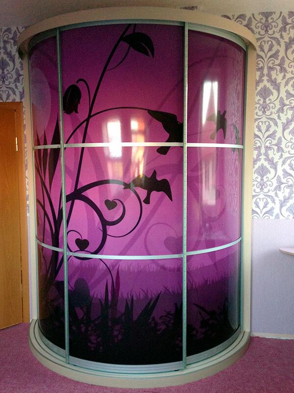 большой радиусный шкаф-купе Мебелеф-10 в спальню