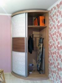 двустворчатый радиусный шкаф-купе Мебелеф-15