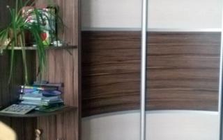радиусный шкаф-купе Мебелеф-8 с угловым элементом