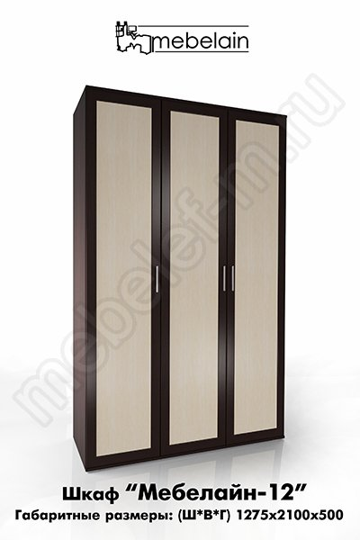 распашной шкаф Мебелайн-12