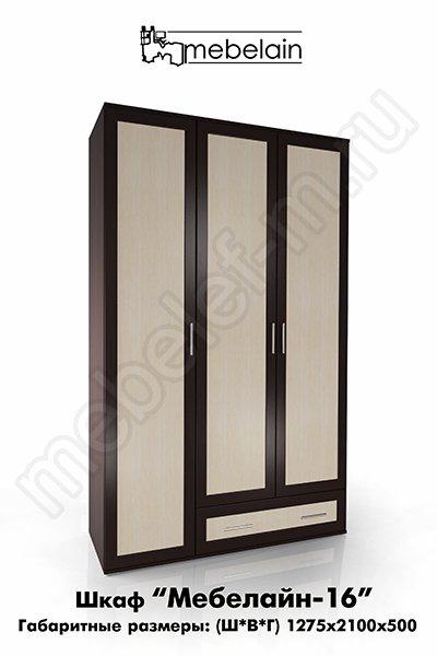 распашной шкаф Мебелайн-16