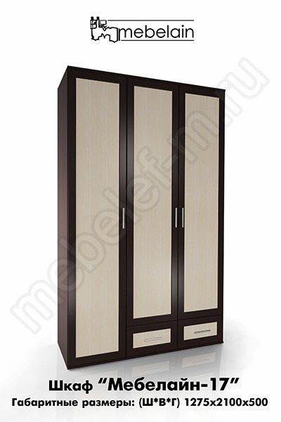 распашной шкаф Мебелайн-17