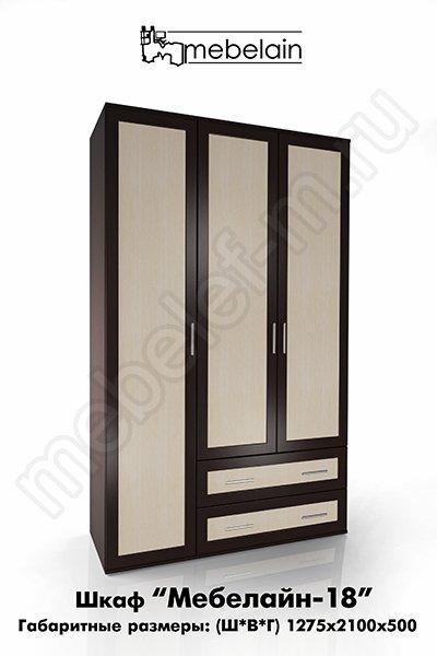 распашной шкаф Мебелайн-18