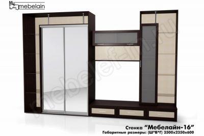 стенка в гостиную Мебелайн-16