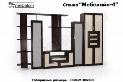 стенка в гостиную Мебелайн-4