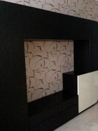 темная стенка в гостиную Мебелеф-3