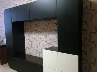 стенка в гостиную Мебелеф-3 черная