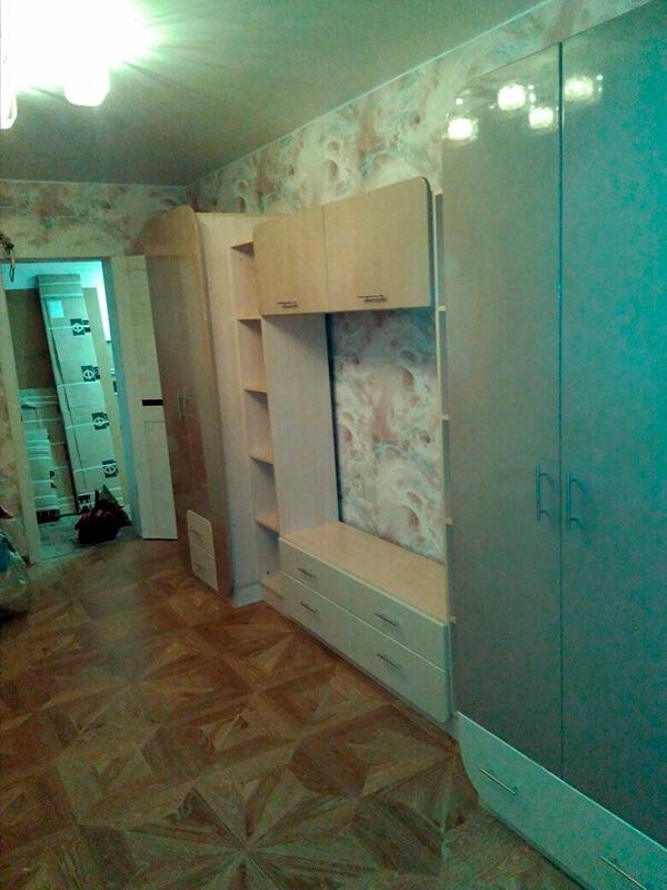 стенка в гостиную Мебелеф-9 с шкафом
