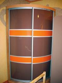 угловой радиусный шкаф-купе Мебелеф-2