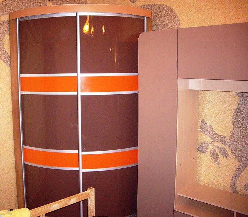 выпуклый радиусный шкаф-купе Мебелеф-2
