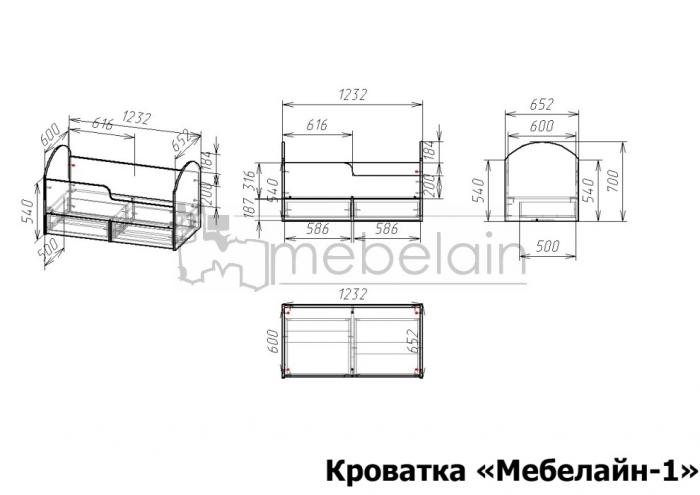 размеры детской кроватки Мебелайн-1