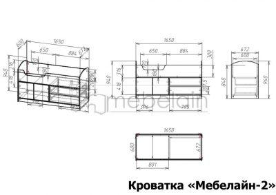 размеры детской кроватки Мебелайн-