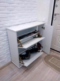 обувница белый глянец Мебелеф-13 открытая