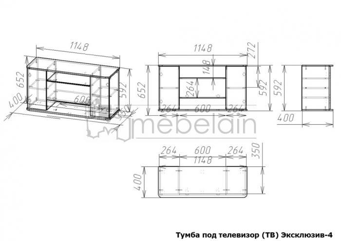 размеры тумбы Эксклюзив Мебелайн-4