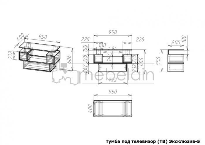 размеры тумбы Эксклюзив Мебелайн-5