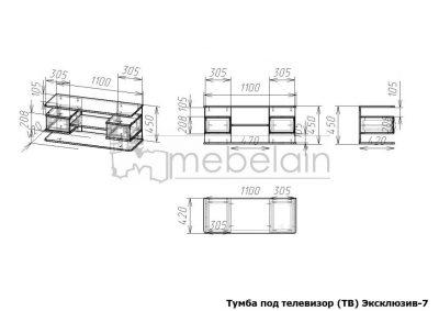 размеры тумбы Эксклюзив Мебелайн-7